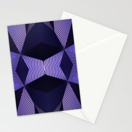 Origami in purple Stationery Cards