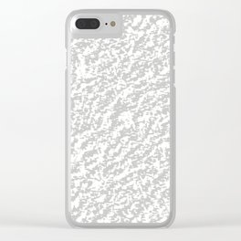 Silver Texture Clear iPhone Case
