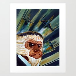 Commander Chim Chimp Art Print