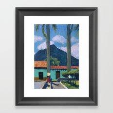 Antigua Park Bench Framed Art Print
