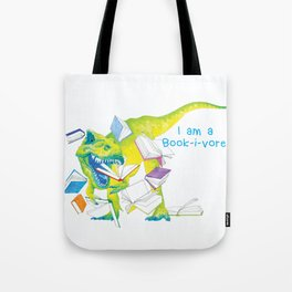 I am a Book-i-vore! Tote Bag