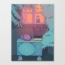 Ramune Cat Canvas Print
