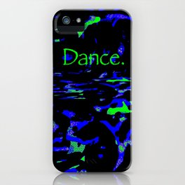 Dance (blue green) iPhone Case