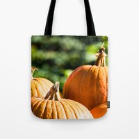 vegetable Tote Bags featuring  autumn vegetable by Karl-Heinz Lüpke