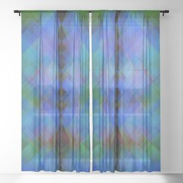 Cymatic flash Sheer Curtain