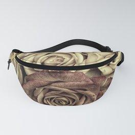 Brown Roses Fanny Pack
