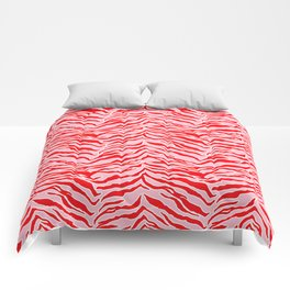 Tiger Print - Red and Pink Comforters