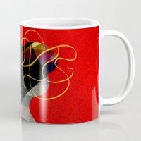 redhead Mugs featuring Redhead by John Murphy