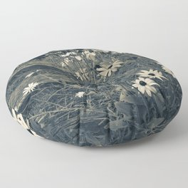 Country Flowers Floor Pillow