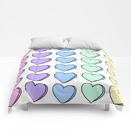 Candy Hearts Comforters