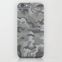 Camo Style - Gray Camouflage iPhone Case