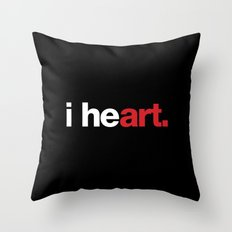 i heart (black) Throw Pillow