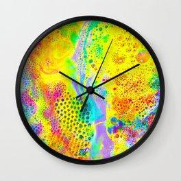 Neon Bubbles Wall Clock