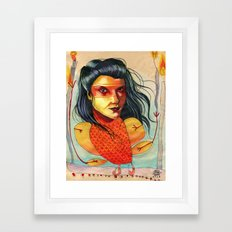 FIRE BIRD Framed Art Print