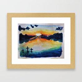 Saving Sunset Framed Art Print