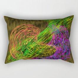 Turbulence colored and gold Rectangular Pillow
