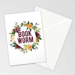 Autumn Bookworm Stationery Cards
