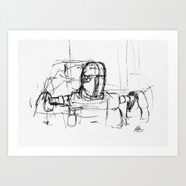 Warbot Sketch #033 Art Print