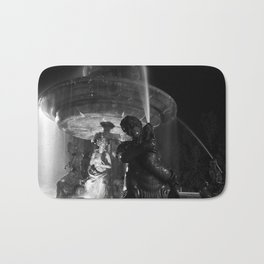 Retro Style Black and White Bath Mat
