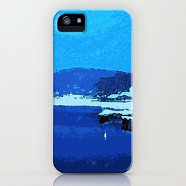 Winter at the Lake, Lake Hopatcong New Jersey iPhone Case