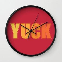 Yuck Wall Clock