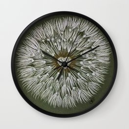 Dandelion heart Wall Clock