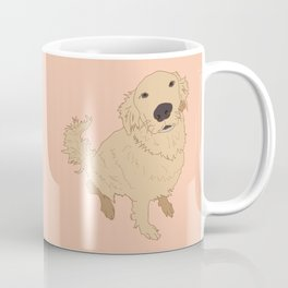 Golden Retriever Love Dog Illustrated Print Coffee Mug