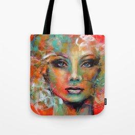 Little Colorgirl Original Painting Tote Bag