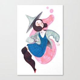 Bubblegum Witch Canvas Print