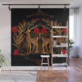 Two Stags Protecting The Dark Forest Gate Wall Mural