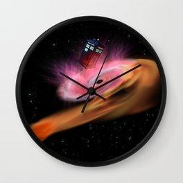 TARDIS BLACK HOLE Wall Clock