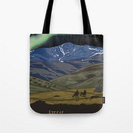 Vintage Poster - Steese National Conservation Area, Alaska (2015) Tote Bag