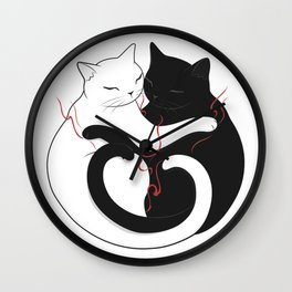 Blazing Cat Love Wall Clock