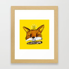 Domestícame: fox Framed Art Print