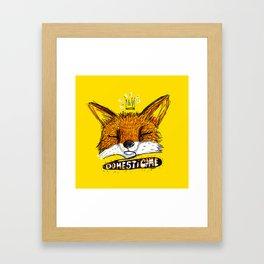 Domestícame: fox Framed Art Print