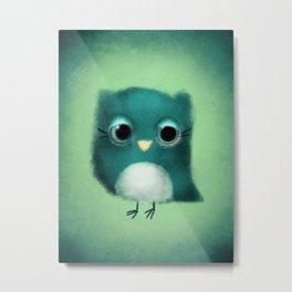 Fuzzy Owl Metal Print