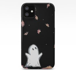 Ghost in falling leaves iPhone Case