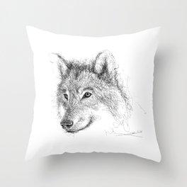 Wild Wolf Throw Pillow