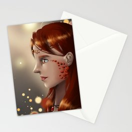 Fire eyes Stationery Cards