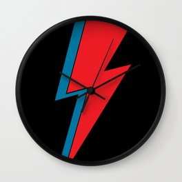 Rock and Roll Red and Blue Lightning Flash Wall Clock