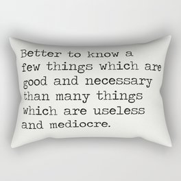 RALPH WALDO EMERSON QUOTES 9 Rectangular Pillow