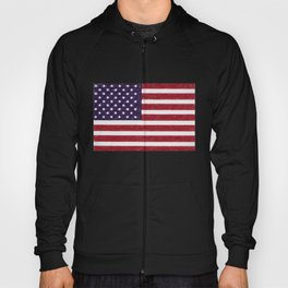 USA flag - in Crayon Hoody