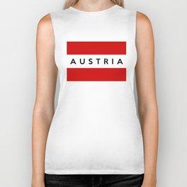 austria country flag name text Biker Tank