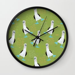 Dance of the Blue-Footed Booby Wall Clock