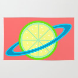 Planet Lime | Lime | Citrus | Fruit | Solar System | Planets | pulps of wood Rug