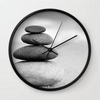 zen Wall Clocks featuring Zen by Anne Seltmann