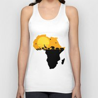 south africa Tank Tops featuring Africa by Emir Simsek