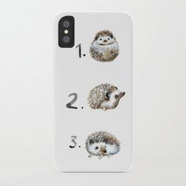 Three Hedgehogs iPhone Case