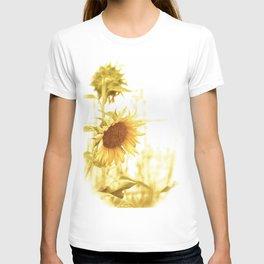 Vintage Sunflower in the Light T-shirt