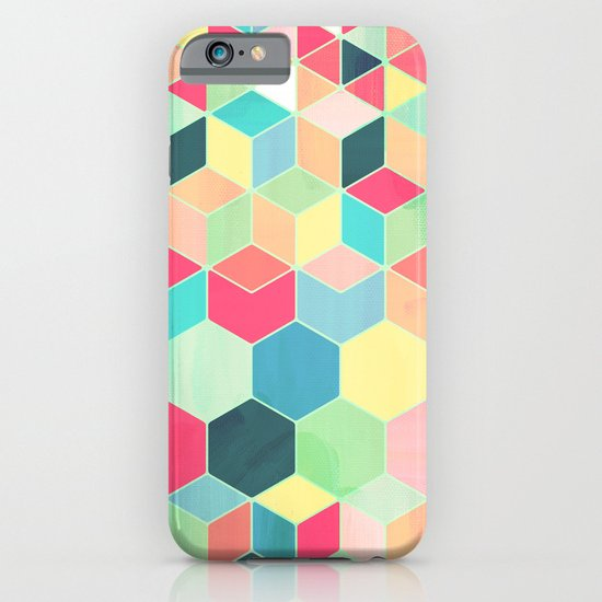 Yummy Summer Colour Honeycomb Pattern iPhone & iPod Case